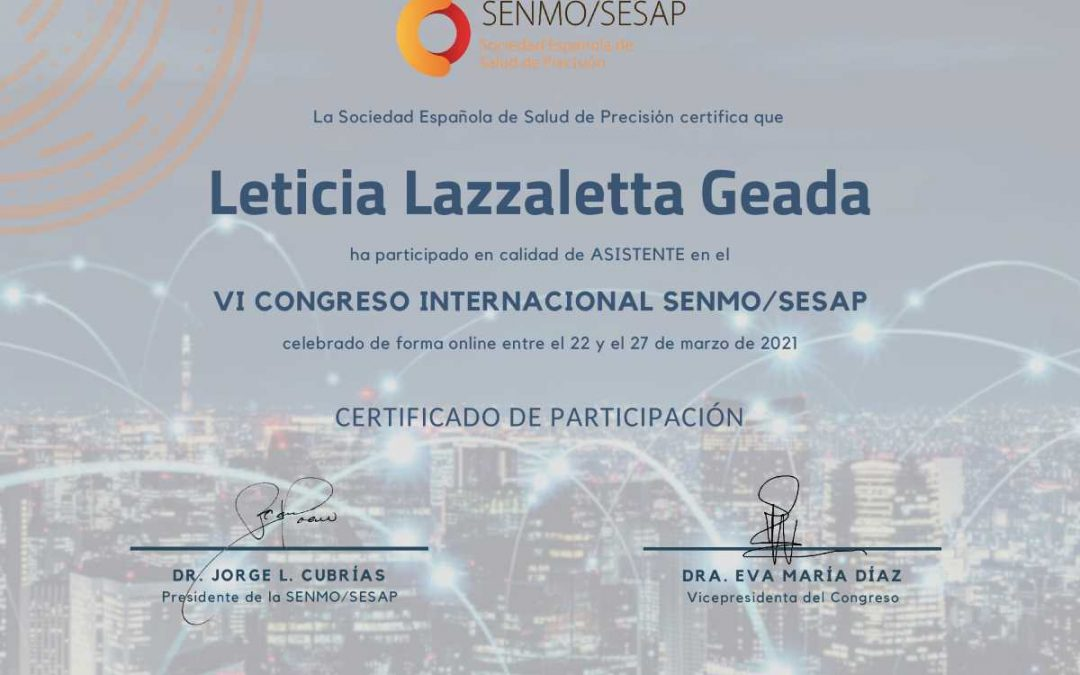 Salud de Precision – Congreso Internacional de la SENMO/SESAP
